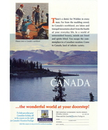 1952 Canada Vacation Travel Northland Kluane Lake ad - $10.00