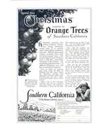 1957 Southern California Christmas vacation travel print ad - $10.00