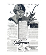 1927 California better life there artistic travel print ad - $10.00