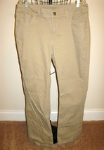 Beautiful Khaki Beige Rider Capri Pants by Lee Size 18 M Nice! #T907 - $15.99