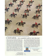 1951 Canada Travel Mounted Police Musical Ride print ad - $10.00