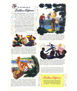 1946 Southern California art work travel vacation print ad - $10.00