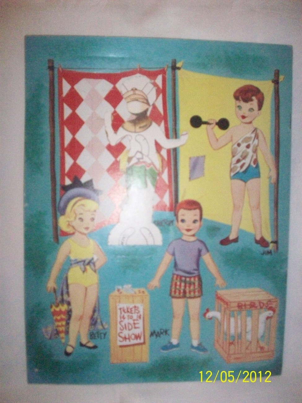 Rare Vintage Kiddie Circus Paper Dolls Set in Folder Mostly Uncut