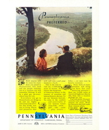 1947 Pennsylvania Travel Beautiful River Valley print ad - $10.00