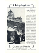 1928 Canadian Pacific travel Chateau Frontenac print ad - $10.00
