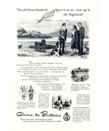 1949 Great Britain British travel highlands print ad - $10.00