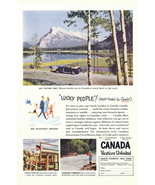 1947 Canada Travel & Vacation Lucky People print ad - $10.00