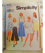 Simplicity Sewing Pattern # 9585  Misses Set of Skirts Easy Sew  Asst Sizes - $3.99
