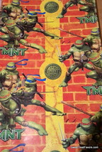 Ninja Turtles Wrapping Paper Sheet Gift Book Cover Party Donatello Wrap ... - $12.82