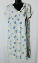 Pink Women's Teapot Victorian Ruffles Short Sleeve Cotton Nightgown Size: L
