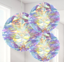 Iridescent Honeycomb Hanging Decorations - 25cm - $18.53