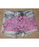 EUC Justice Premium Jeans Simply Low Flower Lace Shorts Size 12S 12 Slim - $12.19
