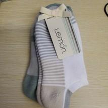 Designer  LEMON Value 2-PACK PILLOW  Soft Anklet Socks  - $11.88