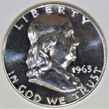 1963 Proof Franklin Half Dollar; Brilliant Superb Gem Proof  - $45.53