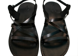 Black Star Leather Sandals - $65.00