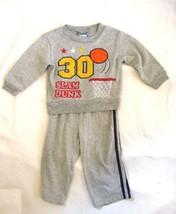 Tuff Guys Basketball Sweatshirt & Pants  size 18 Months Gray Long Sleeve... - $7.49