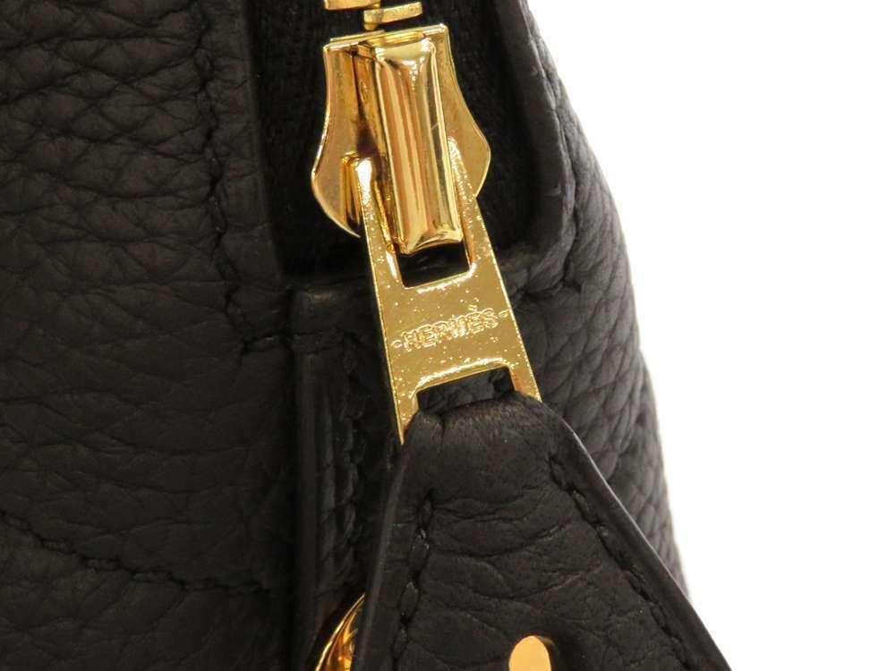 HERMES Bolide 31 Taurillon Clemence Noir 2Way Handbag Shoulder Bag #C Authentic image 4