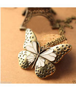 Bronze Butterfly Extra Long Necklace Free Shipping - $12.00