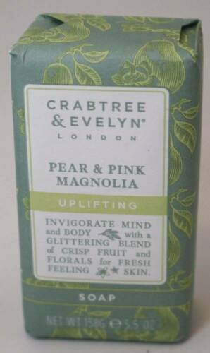 Primary image for Crabtree & Evelyn PEAR & PINK MAGNOLIA Uplifting Soap Bar 5.5 oz