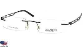NEW LUMIERE EYEWEAR ITALY 8602 C2 BLACK EYEGLASSES FRAME RIMLESS 46-19-1... - $63.69