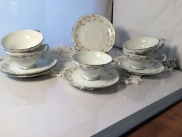Sheffield Fine China Japan Classic Pattern Cup&Saucers (5) (P1611A) - $9.00