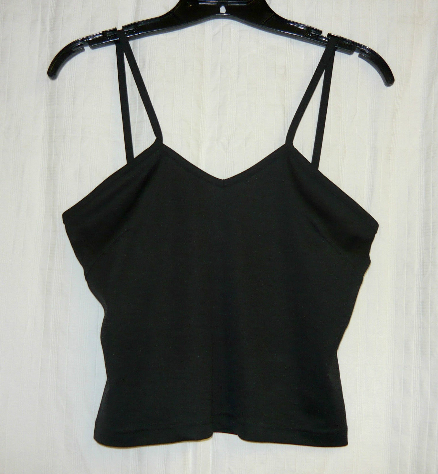 Primary image for Black Spandex/Nylon Top with Spaghetti Straps size Sm.
