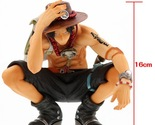NEW 16cm One piece ace squatting action figure toys Christmas doll toy