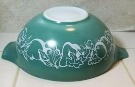 Vintage Pyrex #444 Teal SALAD Bowl Fetus Cinderella 4 Quart 1960 Promoti... - $39.55