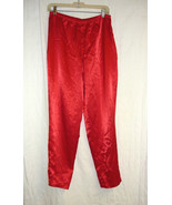 Red Silky Satiny PJ Bottoms sz. Sm. - $5.00