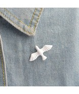 """DOVE OF PEACE PIN 1.5"""" White Enamel Metal Tie Tack Brooch Christian Holy... - $5.95"""