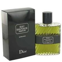 Christian Dior Eau Sauvage Parfum 3.4 Oz Parfum Spray image 6