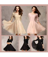 Sweet Miss Gala Ball Lace Prom Gown in Champagne Nude Pink and Classic B... - $72.95