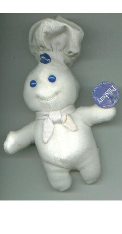 POPPIN FRESH Pillsbury Doughboy lot beanie baby / tie / magnet / plush POPPY