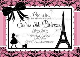 Paris & Poodles Printable Invitation: Birthday, baby shower, bridal shower - $9.99