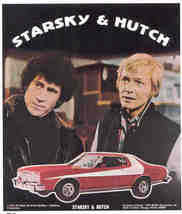 STARSKY & HUTCH 1976 Poster Put-On Sticker near MINT - $6.98