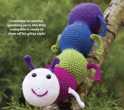 W248 Crochet PATTERN ONLY Glitterbug Caterpillar Bug Toy Pattern - $7.50