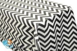 AK-Trading Chevron TableCover, Black L'Amour Satin Chevron TableCloth - Black - $49.45