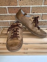 Muk-Luks Mens Size 12 Brown Suede Cow Leather Casual Shoes Lace Up  (WPL... - $30.00