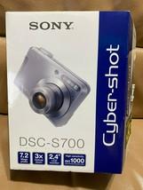 "Sony Cyber-Shot DSC-S700 Digital Camera with 2.4"" LCD 3x OZ 7.2MP Box Manual - $52.46"