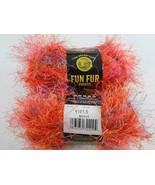 Lion Brand Yarn Fun Fur Prints 2 Skeins Mango Color #209 Lot 1191/5 NEW ... - $21.56