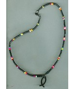 Men's Beaded Necklace,Magnesite Heishe, Hematite,#12Sc10-016, Free Shipping - $7.25
