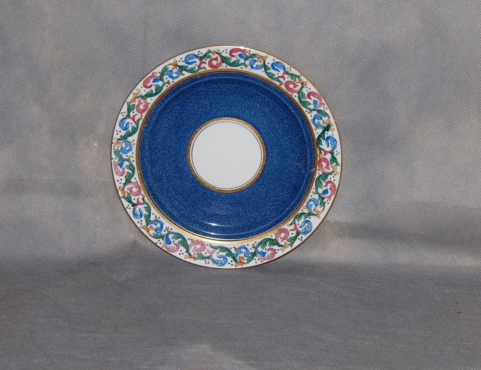 Primary image for E Hughes & Co China Staffordshire England Powder Blue Leaf Scroll Salad Plate