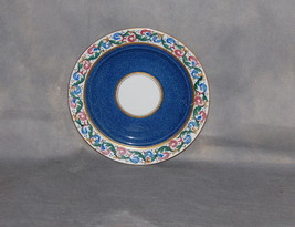 E Hughes & Co China Staffordshire England Powder Blue Leaf Scroll Salad Plate - $18.00