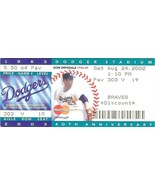 2002 dodger 40th anniversary ticket stub don drydale 1962 dodger stadium... - $5.99