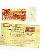 VINTAGE MEXICAN ENVELOPE W/50C CORREOS-AEREOS AIR MAIL STAMP-CANADIAN FI... - €15,89 EUR