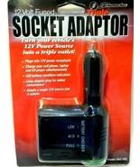 Schumacher Triple Socket Adaptor 12 Volt Fused Vehicle Adaptor NEW! - $9.73