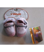 Pink TEVA Suede Leather Crib Shoes Baby Girl 0 ... - $10.00