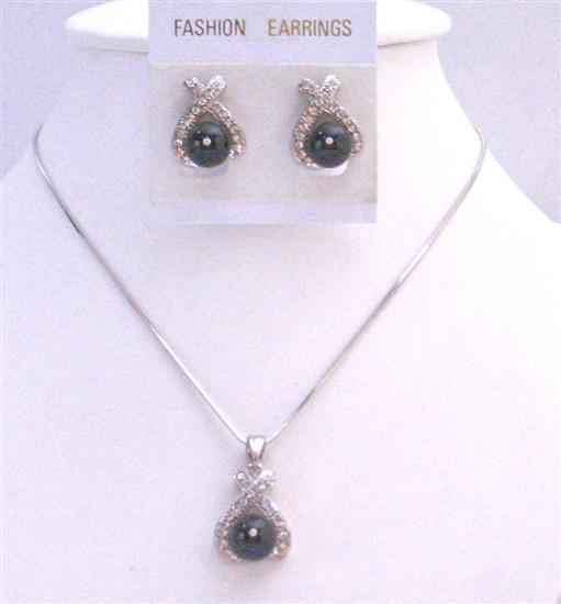 Black Pearls Pendant Earrings Under $15 Affordable Bridesmaid Jewelry