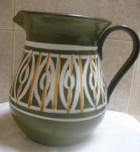 Mid Century Modern Art Pottery Pitcher- Italy-Eames Era