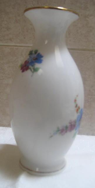 Vintage French Porcelain Vase - Gold rim
